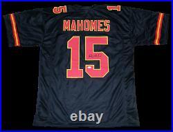Kansas City Chiefs Patrick Mahomes Autographed Signed #15 Black Jersey Jsa