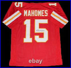 Kansas City Chiefs Patrick Mahomes Autographed Signed #15 Red Jersey Beckett