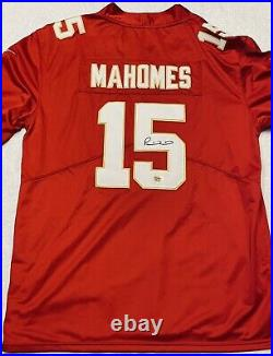 Kansas City Chiefs Patrick Mahomes Autographed Signed #15 Red Jersey Coa