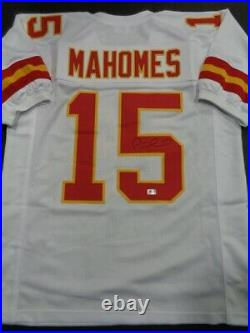 Kansas City Chiefs Patrick Mahomes Autographed Signed #15 White Jersey Coa