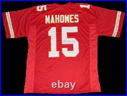 Kansas City Chiefs Patrick Mahomes Signed Autographed #15 Red Jersey Beckett