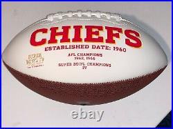 Kansas City Chiefs football Superbowl Champs signed Reid Kelce Hill