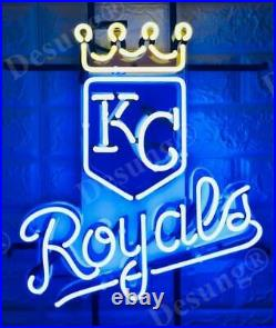 Kansas City Royals Beer Light Lamp Neon Sign 20 With HD Vivid Printing