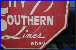 Kansas City Southern Logo Metal Locomotive Cab Sign