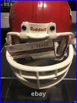 Lamar Hunt Kansas City Chiefs HOF Signed Mini Helmet JSA