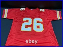 Le'veon Bell Kansas City Chiefs Signed Custom Stitched Jersey Jsa Witness Coa