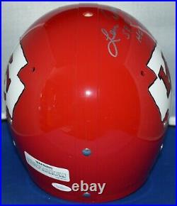 Len Dawson Signed Full Size Tk Helmet Kansas City Chiefs Hof 87 Sb IV Mvp Jsa