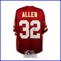 Marcus Allen Autographed Kansas City Chiefs Custom Football Jersey BAS COA