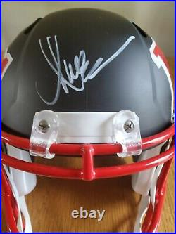 Marcus Allen autographed AMP replica Kansas City Chiefs full size helmet HOF