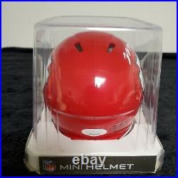 Mecole Hardman Autographed Kansas City Chiefs Speed Mini Helmet Jsa