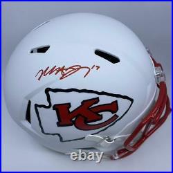 Mecole Hardman Signed Kansas City Chiefs Full Size Matte White Replica Helmet