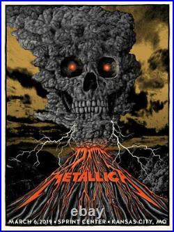 Metallica 3/6/2019 VIP Poster Kansas City Silkscreen Signed & Numbered #/50