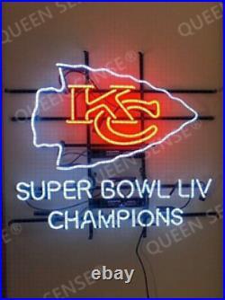 New Kansas City Chiefs 2020 LIV Champions Neon Sign 24x22 Light Lamp Glass