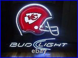 New Kansas City Chiefs Logo Neon Light Sign 20x16 Wall Decor Lamp Bar Beer
