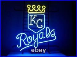 New Kansas City Royals Neon Light Sign 20x16 Real Glass Bar Beer Artwork Decor
