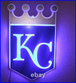 New Kansas City Royals Wall Decor Bar Man Cave LED Light Neon Sign 14