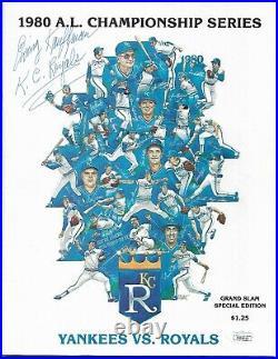 Owner Ewing Kauffman Signed 1980 Alcs Kansas City Royals Program Auto Jsa Coa