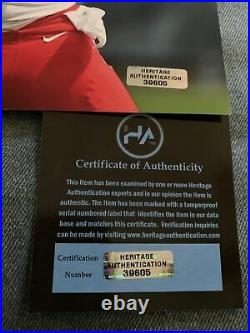 PATRICK MAHOMES HAND SIGNED AUTOGRAPHED KANSAS CITY CHIEFS 8x10 PHOTO WITH COA