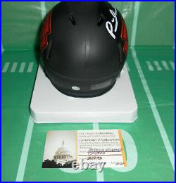 Patrick Mahomes Autographed Kansas City Chiefs Eclipse Style Mini Helmet. Coa