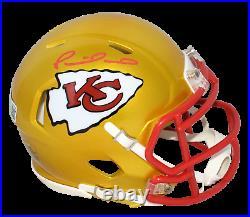 Patrick Mahomes Autographed Kansas City Chiefs Flash Speed Mini Helmet Beckett