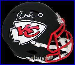Patrick Mahomes Autographed Kansas City Chiefs Flat Black Full Size Helmet Jsa