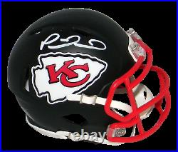 Patrick Mahomes Autographed Kansas City Chiefs Flat Black Speed Mini Helmet Jsa