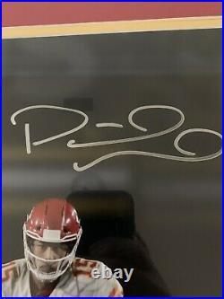 Patrick Mahomes Autographed Kansas City Chiefs Framed 16x20 JSA Witness