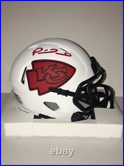Patrick Mahomes Autographed, Kansas City Chiefs Lunar Eclipse Mini Helmet. Coa