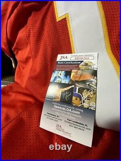 Patrick Mahomes Autographed Kansas City Jersey. JSA Certified. Clean Signature