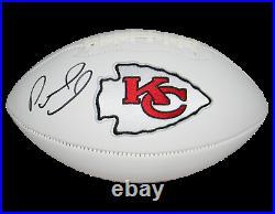 Patrick Mahomes Autographed Signed Kansas City Chiefs White Logo Football Jsa