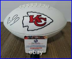 Patrick Mahomes Hand Signed Football Superbowl Kansas City Chiefs Wilson COA NFL