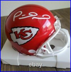Patrick Mahomes Hand Signed Mini Helmet Superbowl Kansas City Chiefs COA NFL