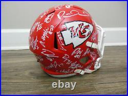 Patrick Mahomes Kansas City Chiefs 2019-2020 Team Signed Full Size Speed Helmet