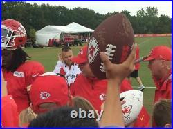 Patrick Mahomes Kansas City Chiefs 2020 Team Signed Full Size Speed Helmet