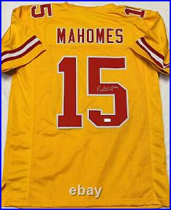 Patrick Mahomes Kansas City Chiefs Autographed Chiefs Jersey Coa