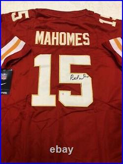 Patrick Mahomes Kansas City Chiefs Autographed Chiefs Nike NFL Jersey Coa