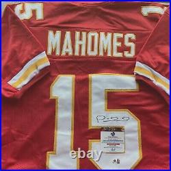 Patrick Mahomes Kansas City Chiefs Autographed Custom Jersey, COA GV 919473
