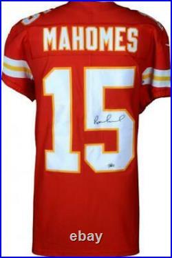 Patrick Mahomes Kansas City Chiefs Autographed Red Nike Elite Jersey