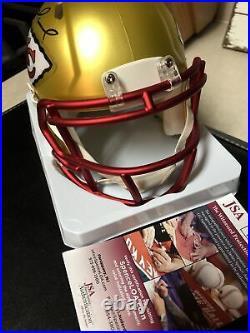 Patrick Mahomes Kansas City Chiefs Signed Autographed Mini Helmet BLAZE with COA