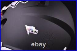 Patrick Mahomes Kansas City Chiefs Signed Flat Black Authentic Helmet Fanatics