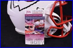 Patrick Mahomes Kansas City Chiefs, Signed Flat White Authentic Helmet JSA COA