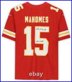 Patrick Mahomes Kansas City Chiefs Signed Red Limited Jersey & LIV MVP Insc
