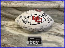 Patrick Mahomes Kansas City Chiefs Team Signed Football Kelce Hill Reid Coa