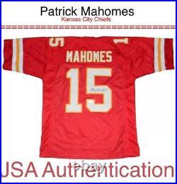 Patrick Mahomes NFL Kansas City Chiefs KC JSA Authentic Autograph SIGNED JERSEY