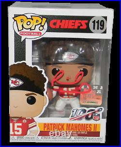 Patrick Mahomes Signed Autographed Kansas City Chiefs Funko Pop Figurine Jsa