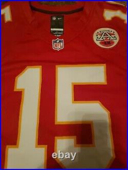 Patrick Mahomes Signed Kansas City Chiefs #15 Nike Game Jersey Jsa Coa Awesome