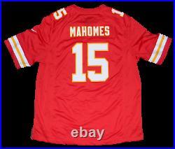 Patrick Mahomes Signed Kansas City Chiefs #15 Nike Super Bowl LV Jersey Beckett