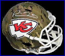 Patrick Mahomes Signed Kansas City Chiefs Camo Full Size Speed Helmet Beckett