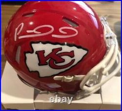 Patrick Mahomes Signed Kansas City Chiefs Mini Helmet WithCOA
