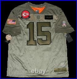 Patrick Mahomes Signed Kansas City Chiefs Salute To Service Nike Limited Jersey